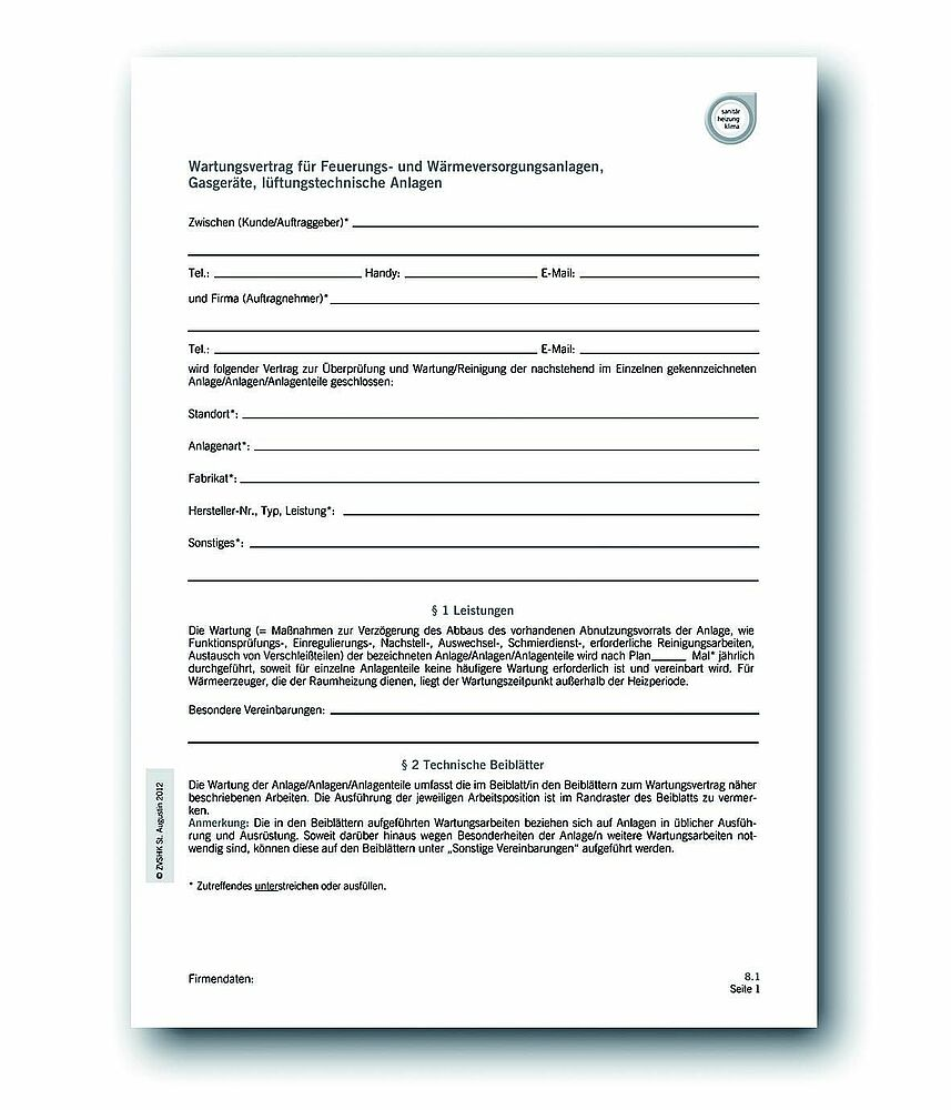 Software Pflegevertrag Wartungsvertrag Muster Zum Download 12
